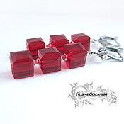Украшения handmade. Livemaster - original item Earrings cubes with Swarovski