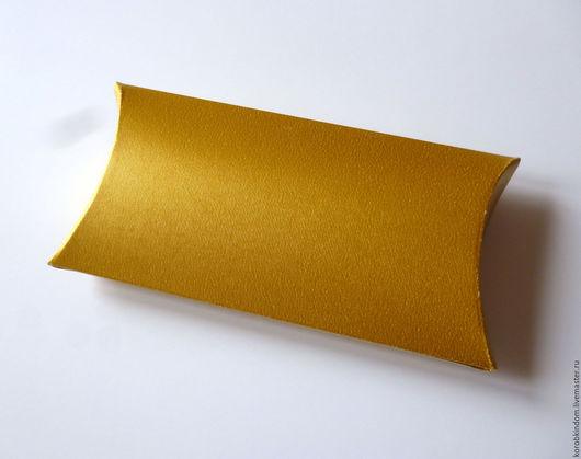 Свадебные аксессуары ручной работы. Ярмарка Мастеров - ручная работа. Купить Бонбоньерка 12х6,5 см с золотая. Handmade. Коробочка