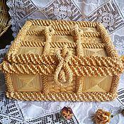 Винтаж ручной работы. Ярмарка Мастеров - ручная работа Шкатулка соломенная, ларец. Handmade.