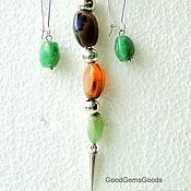 Украшения handmade. Livemaster - original item Set of colorful agate. Handmade.
