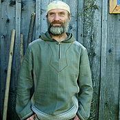 "Одежда ручной работы. Ярмарка Мастеров - ручная работа Рубаха мужская льняная ""Таинственный лес"". Handmade."