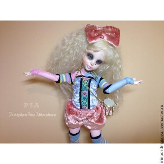 Коллекционные куклы ручной работы. Ярмарка Мастеров - ручная работа. Купить Авторская Шарнирная Куколка Angel Candy. Handmade. Разноцветный