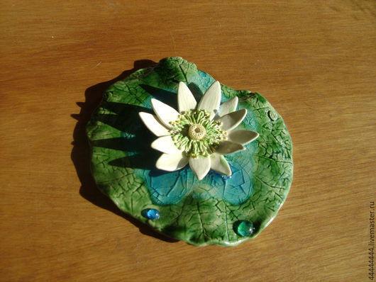 Медитация ручной работы. Ярмарка Мастеров - ручная работа. Купить лотос подставка под благовония керамика. Handmade. Лотос, Керамика