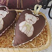 Куклы и игрушки ручной работы. Ярмарка Мастеров - ручная работа Сердечко с мишуткой. Handmade.