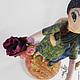"""Коллекционные куклы ручной работы. Интерьерная композиция """"Пара"""", грунтованный текстиль, статуэтка. 'Волшебная шкатулка' (Надежда). Ярмарка Мастеров."""