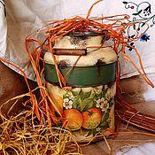 """Посуда ручной работы. Ярмарка Мастеров - ручная работа """"Любовь к трем апельсинам"""" металлический бидон. Handmade."""