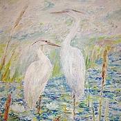 """Картины и панно ручной работы. Ярмарка Мастеров - ручная работа Картина """"Среди белых лилий"""" темпера. Handmade."""