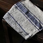 Для дома и интерьера handmade. Livemaster - original item Striped Linen Towel - 100% linen Towel. Handmade.