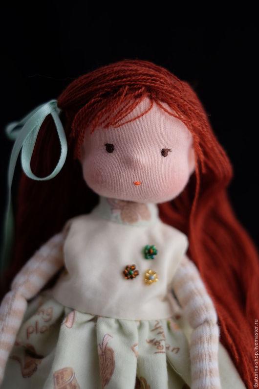Вальдорфская игрушка ручной работы. Ярмарка Мастеров - ручная работа. Купить Лиза. Handmade. Мятный, текстильная кукла, авторская кукла