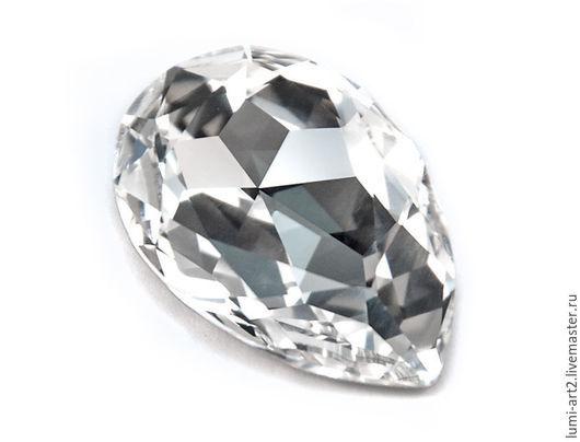 Для украшений ручной работы. Ярмарка Мастеров - ручная работа. Купить Капли 30х20 Crystal 001 Swarovski Кристаллы Fancy Stone 4327. Handmade.