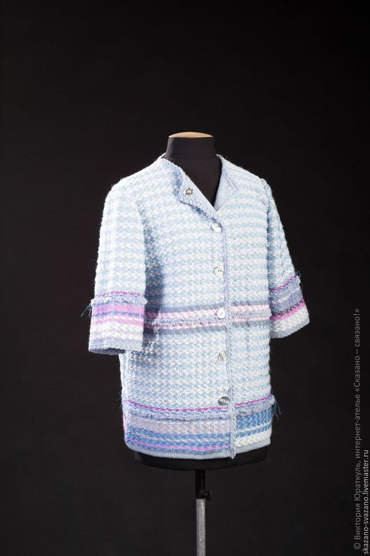 Пиджаки, жакеты ручной работы. Ярмарка Мастеров - ручная работа. Купить Полупальто женское. Handmade. Голубой, большой размер, полупальто на заказ