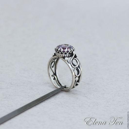 """Украшения для мужчин, ручной работы. Ярмарка Мастеров - ручная работа. Купить Серебряное кольцо с фианитом """"Пастель"""" мужское кольцо серебро. Handmade."""