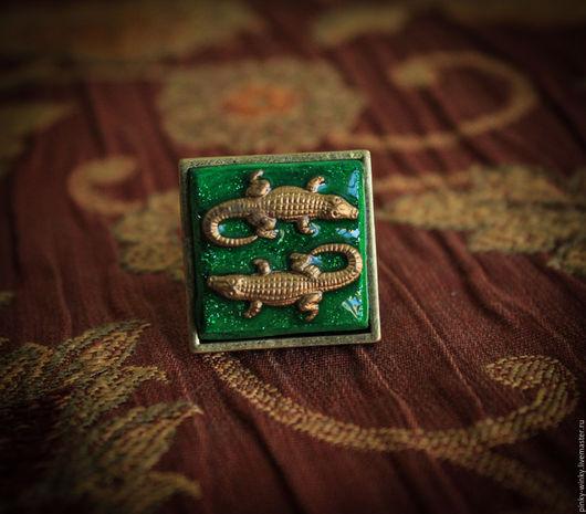 Кольца ручной работы. Ярмарка Мастеров - ручная работа. Купить Созвездие Аллигаторов. Handmade. Аллигатор, кольцо, магия, латунь
