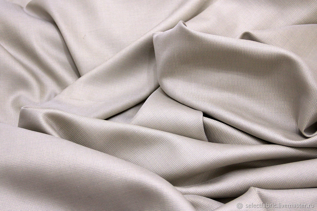 Loro Piana костюмная ткань серебристо-бежевая, Ткани, Москва,  Фото №1