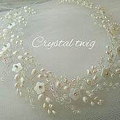 Свадебный салон handmade. Livemaster - original item Wreath - twig for bride. Handmade.