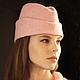 Шляпы ручной работы. Ярмарка Мастеров - ручная работа. Купить Демисезонная шапочка-пилотка. Handmade. Бледно-розовый, шляпка, пилотки