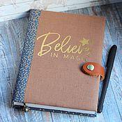 Канцелярские товары handmade. Livemaster - original item Diary Believe. Handmade.