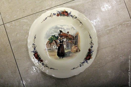 Винтажная посуда. Ярмарка Мастеров - ручная работа. Купить Винтажная тарелочка. Handmade. Комбинированный, голландская живопись, фарфор