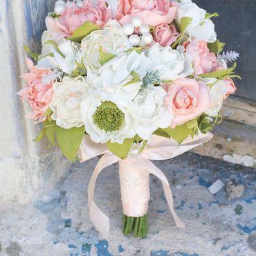 Свадебный салон ручной работы. Ярмарка Мастеров - ручная работа Свадебный букет, свадебный букет дублер, свадебный букет из фоамирана. Handmade.