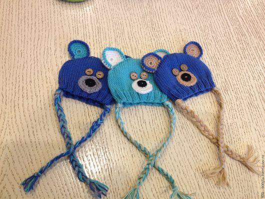 Одежда для кукол ручной работы. Ярмарка Мастеров - ручная работа. Купить вязаные шапочки для текстильной куклы. Handmade. Комбинированный