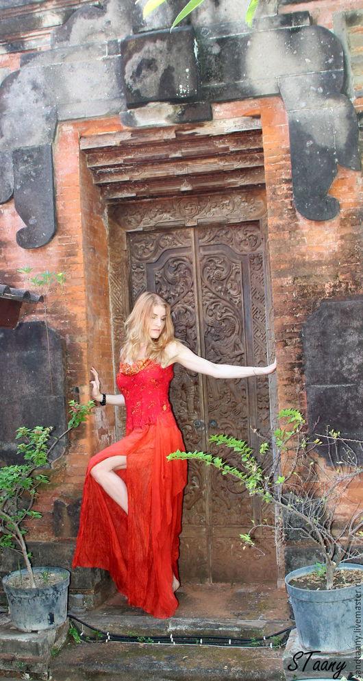 """Платья ручной работы. Ярмарка Мастеров - ручная работа. Купить Платье """"Страсть"""". Handmade. Ярко-красный, красное платье"""