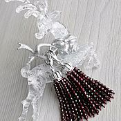 Украшения handmade. Livemaster - original item Garnet earrings tassels