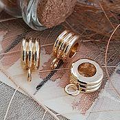 Материалы для творчества handmade. Livemaster - original item Bale 12x9x5 mm HV. d 5mm gold plated (3605). Handmade.