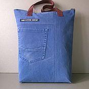 Сумки и аксессуары handmade. Livemaster - original item Ekosumki: Denim shopping bag SMOG CLOTHING. Handmade.