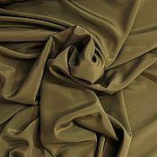 Материалы для творчества ручной работы. Ярмарка Мастеров - ручная работа Крепдешин Зеленый лесной, 140см 16мм. Handmade.