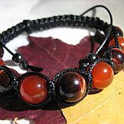 Украшения handmade. Livemaster - original item Bracelet with carnelian and a bull`s eye,