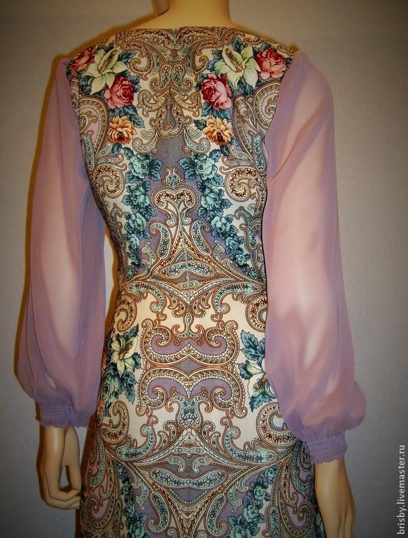 Платья из платков видео