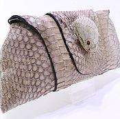Сумки и аксессуары handmade. Livemaster - original item Clutch women`s leather Cobra head snake IMK0010L. Handmade.