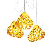 Для дома и интерьера handmade. Livemaster - original item ZAHA LIGHT yellow trehrozhkovye chandelier. Handmade.
