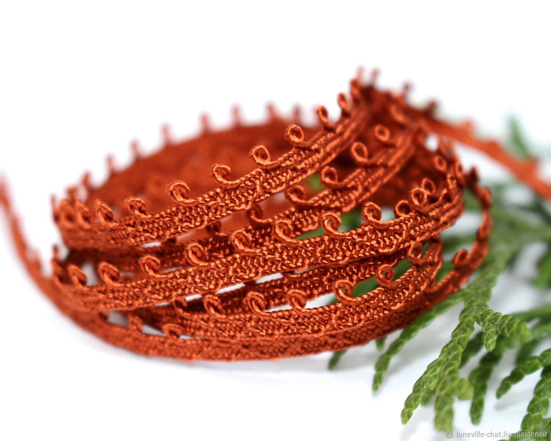 5 mm red-orange Pico mokuba ribbon (No. №9), braid, St. Petersburg,  Фото №1