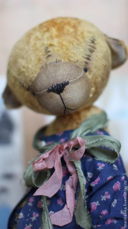 Мишки Тедди ручной работы. Ярмарка Мастеров - ручная работа. Купить Митроша. Handmade. Желтый, винтажный стиль, винтажный плюш