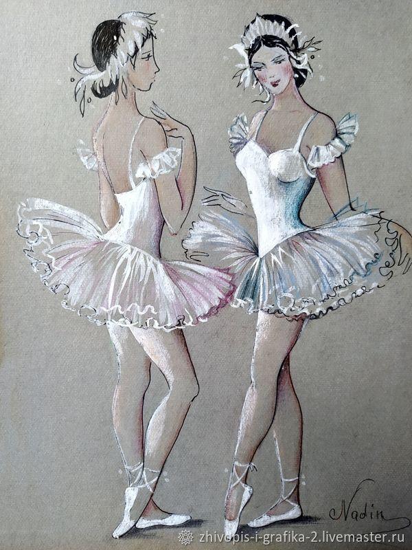 Балерины – купить на Ярмарке Мастеров – NO3XORU | Иллюстрации и рисунки, Ростов-на-Дону