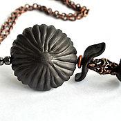 "Украшения handmade. Livemaster - original item Porcelain pendant ""Nymphalide"". Handmade."