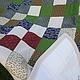 """Текстиль, ковры ручной работы. Лоскутный плед """"Шалфей и дубочки"""". Арина. Ярмарка Мастеров. Фиолетовый, дубовый лист, флис"""