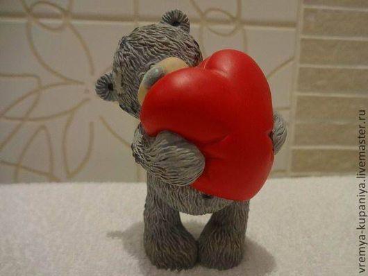 """Другие виды рукоделия ручной работы. Ярмарка Мастеров - ручная работа. Купить Силиконовая форма для мыла  """"Тедди с большим сердцем"""". Handmade."""