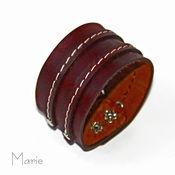 Украшения ручной работы. Ярмарка Мастеров - ручная работа Кожаный широкий браслет. Handmade.