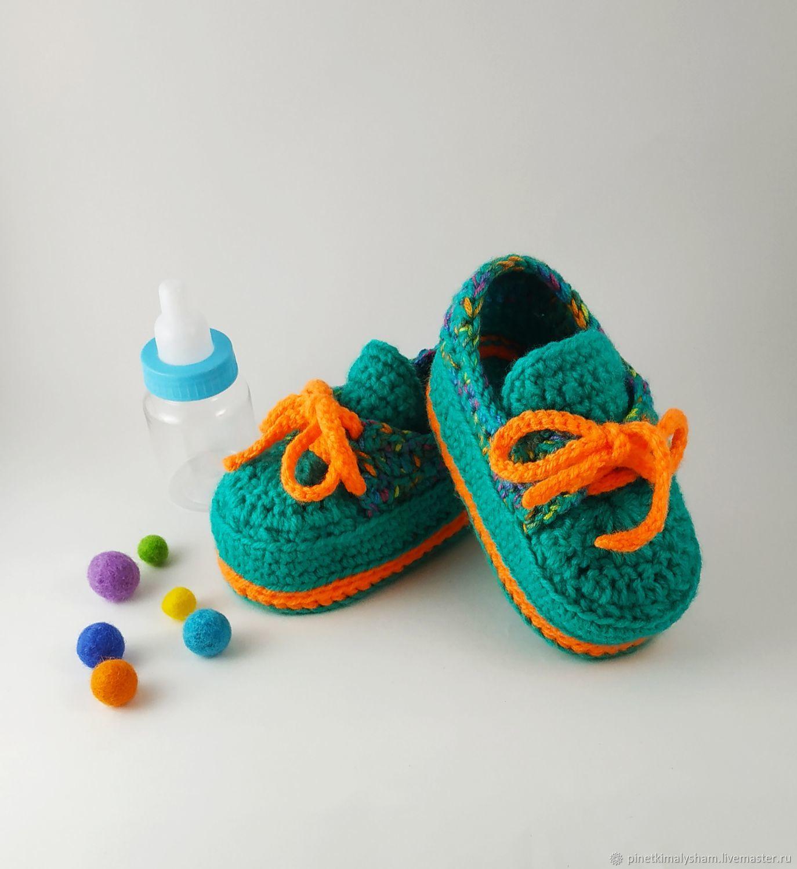 Пинетки-кроссовки цвета морской волны для малышей, Пинетки, Черниговка,  Фото №1