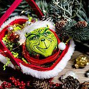 Подарки к праздникам handmade. Livemaster - original item Christmas ball toy the Grinch stole Christmas, Christmas toys. Handmade.