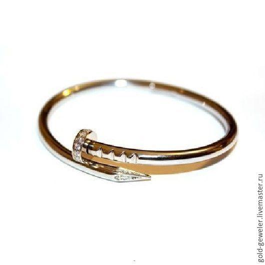 Купить браслет золотой гвоздь