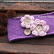 Работы для детей, ручной работы. Ярмарка Мастеров - ручная работа повязка для девочки. Handmade.