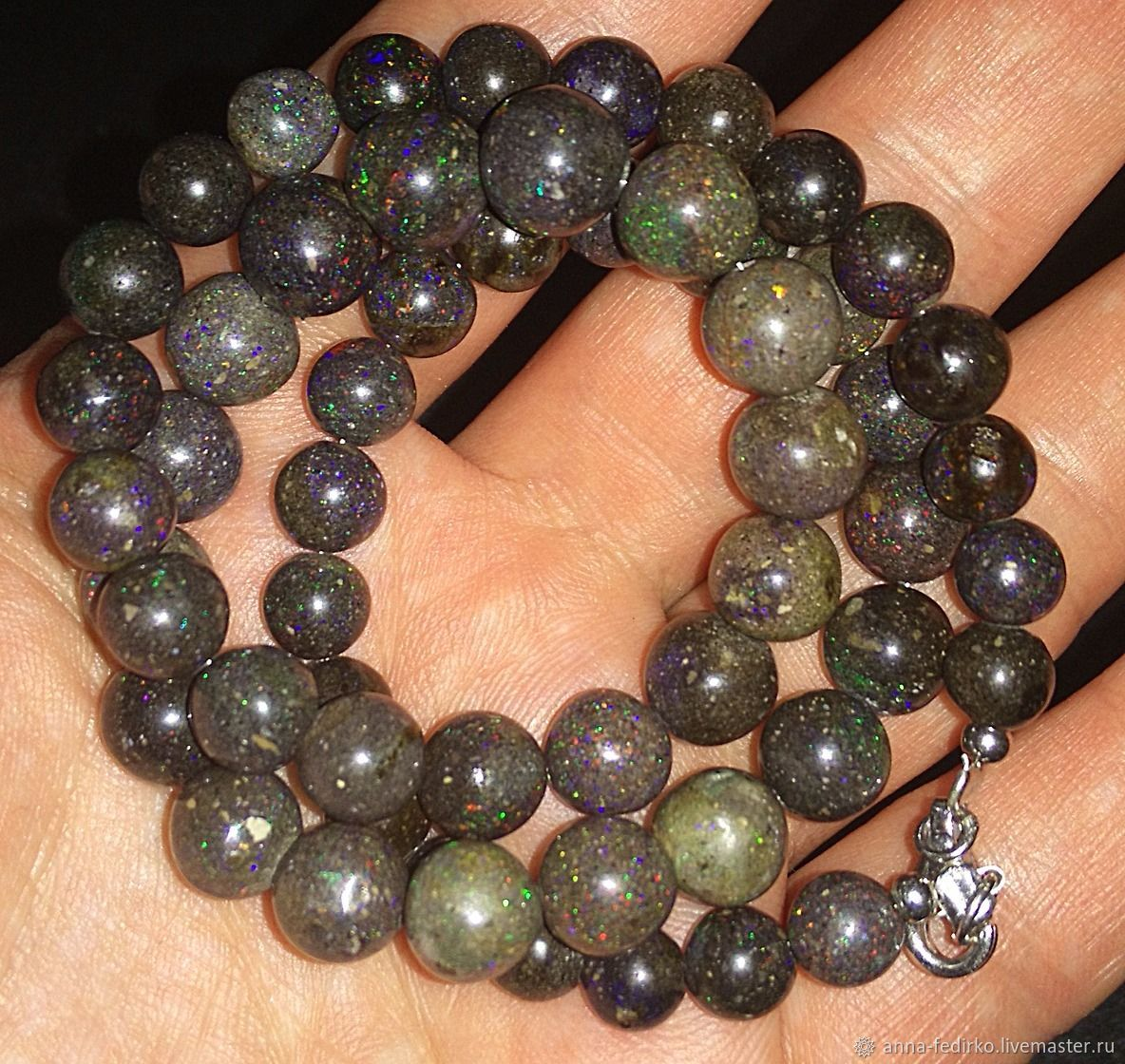 Beads from Honduran opal, Necklace, Essentuki,  Фото №1