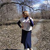 Одежда handmade. Livemaster - original item Vest knitted women`s rose. Handmade.