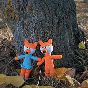 Куклы и игрушки ручной работы. Ярмарка Мастеров - ручная работа Вязаная игрушка Лисичка. Handmade.