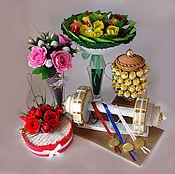 Подарки к праздникам ручной работы. Ярмарка Мастеров - ручная работа Подарки учителям из конфет. Handmade.
