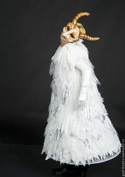 Карнавальные костюмы ручной работы. Ярмарка Мастеров - ручная работа. Купить Маска белого Тролля. Handmade. Белый, рога