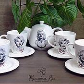 """Посуда ручной работы. Ярмарка Мастеров - ручная работа Чайный сервиз """"Мерилин Монро"""". Handmade."""